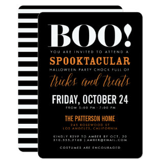 BOO | Modern Halloween Party Invitation