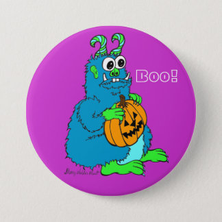 Boo Monster with Pumpkin Pin