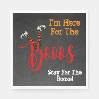 Boo On Halloween Boo and Booze Party Napkins Paper Napkins