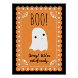 Boo! Out of Candy Door Sign