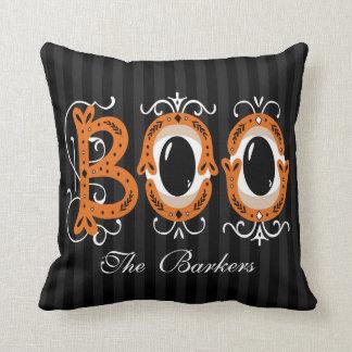 Boo Personalized - Monogram Dual Purpose Throw Pillow