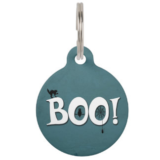 Boo! Pet Name Tag