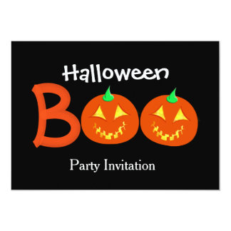Boo Pumpkin Jack O Lantern Halloween Themed Card