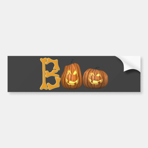 BOO Pumpkins Bumper Sticker
