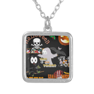 boo silver plated necklace