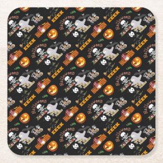 boo square paper coaster
