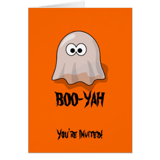 BOO-YAH Halloween Party Invitation