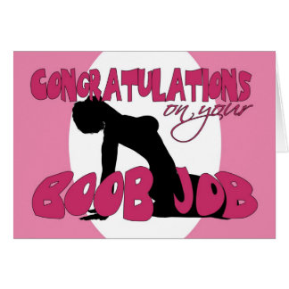 Boob Job Congratulations Card