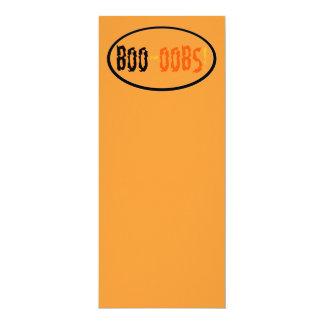 "Boobs Orange Black Halloween 4"" X 9.25"" Invitation Card"