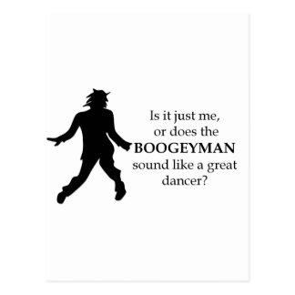Boogeyman Parody Dancing Postcard