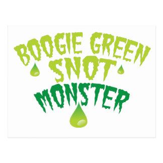 Boogie green snot monster (funny Halloween) Postcard