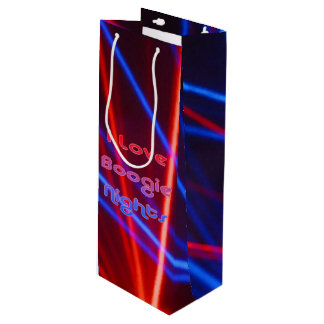 Boogie Nights and Disco Lights 1 Wine Gift Bag