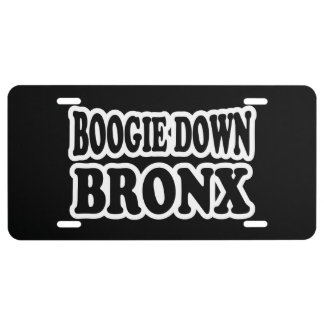 Boogie vers le bas Bronx, NYC Plaque D'immatriculation