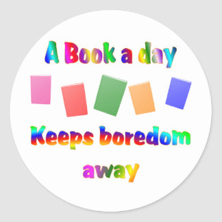 Book a Day Classic Round Sticker