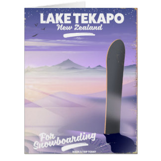 book a trip today lake Tekapo New Zealand Card