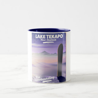 book a trip today lake Tekapo New Zealand Two-Tone Coffee Mug