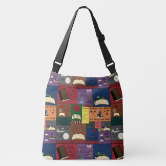 Book Addict Collage Crossbody Bag