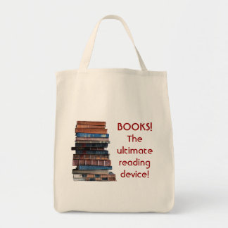 Book Bag-Stack of old books/reading device Tote Bag