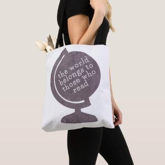 Book Bag World Belongs to Those who Read Purple