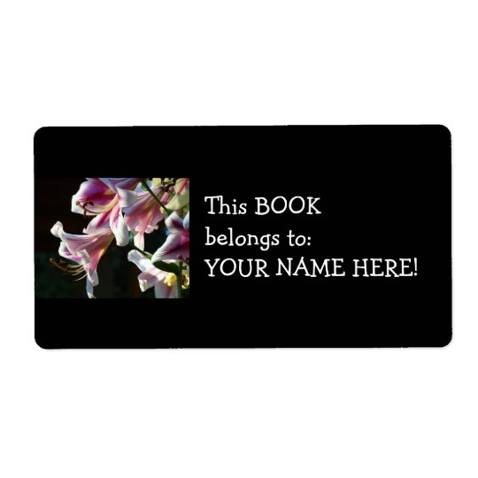 Book Belongs to Your Name stickers Lily Book label Shipping Label