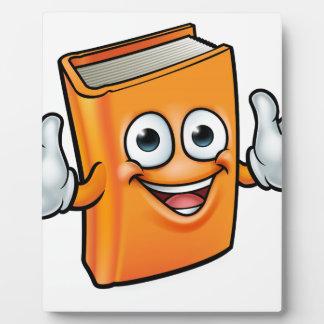 Book Cartoon Character Mascot Plaque