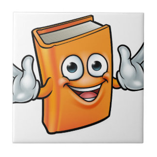 Book Cartoon Character Mascot Tile