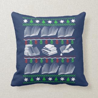 Book Christmas Throw Pillow