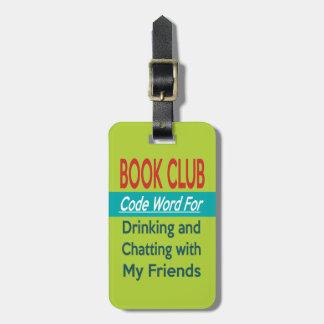 Book Club - Code Word Luggage Tag