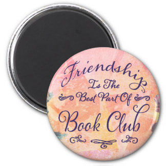 book club friendship bibliophile watercolor magnet