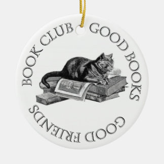 Book Club - Good Books - Good Friends Ceramic Ornament