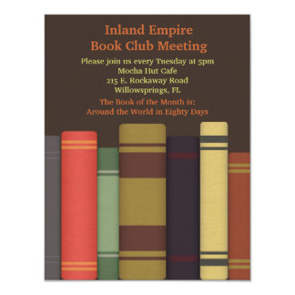 Book Club Meeting Invitations