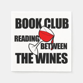 BOOK CLUB reading between the wines Paper Napkin