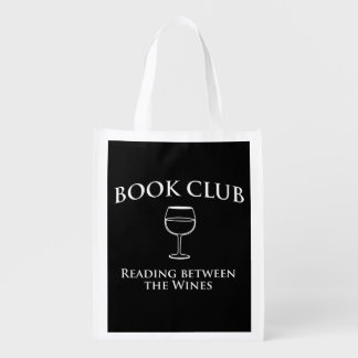 Book Club Reading Between the Wines Reusable Grocery Bag