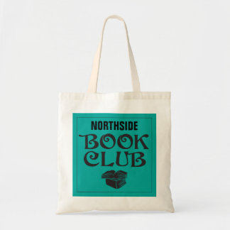 Book Club with custom name in teal Tote Bag