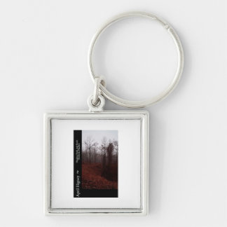 Book Cover Design Images Silver-Colored Square Keychain
