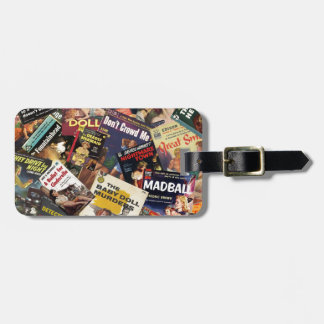 Book Cover Montage Bag Tag