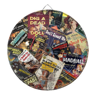 Book Cover Montage Dartboard
