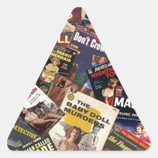 Book Cover Montage Triangle Sticker