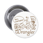 Book Cowboy Funny Librarian Buttons