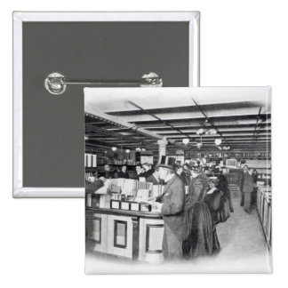 Book Department at an Army and Navy store 2 Inch Square Button