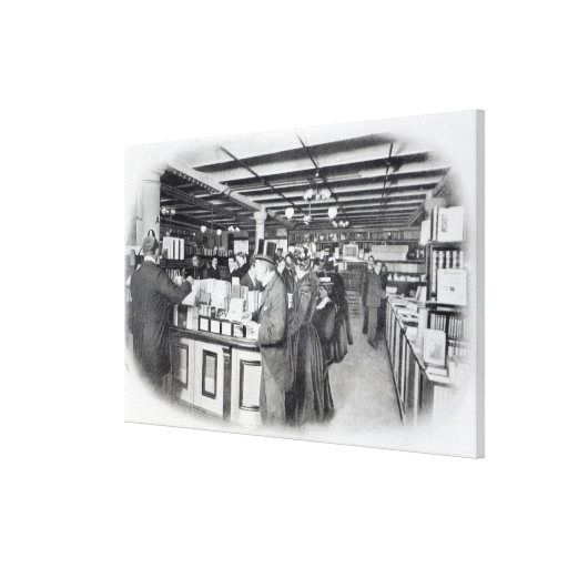Book Department at an Army and Navy store Canvas Print