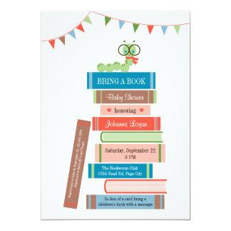 "Book for Baby Shower Invitation 5"" X 7"" Invitation Card"
