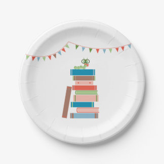 Book for Baby Shower Plate 7 Inch Paper Plate
