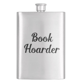 Book Hoarder Hip Flask