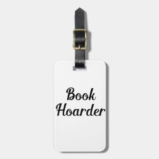 Book Hoarder Luggage Tag