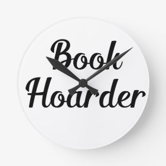 Book Hoarder Round Clock