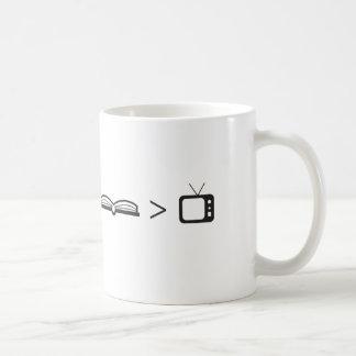 Book Is Greater Than TV Coffee Mug