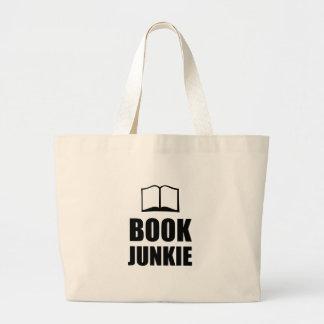 Book Junkie Large Tote Bag
