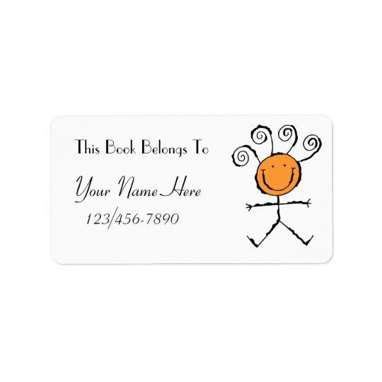 Book Label   Address Label