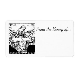 Book labels~ From the Library of... Medieval maid Shipping Label
